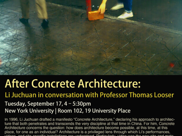 After Concrete Architecture: Li Juchuan in Conversation with Prof. Thomas Looser